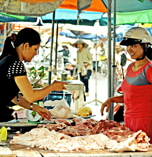 Pork sale Vietnam