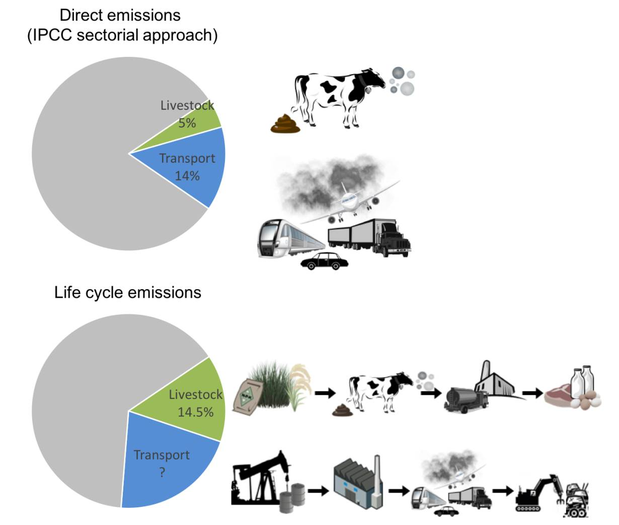 FAO on the common but flawed comparisons of greenhouse gas