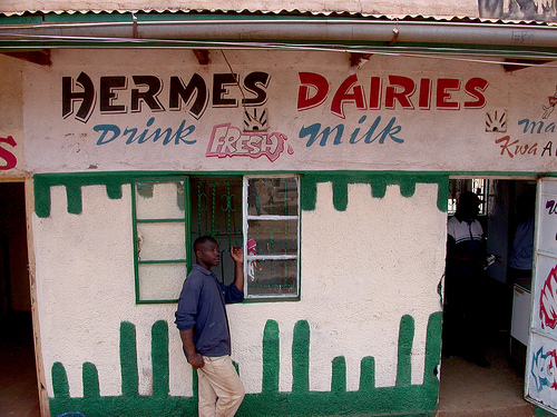 One of Kenya's many 'milk bars' (photo credit: ILRI/Dave Elsworth).