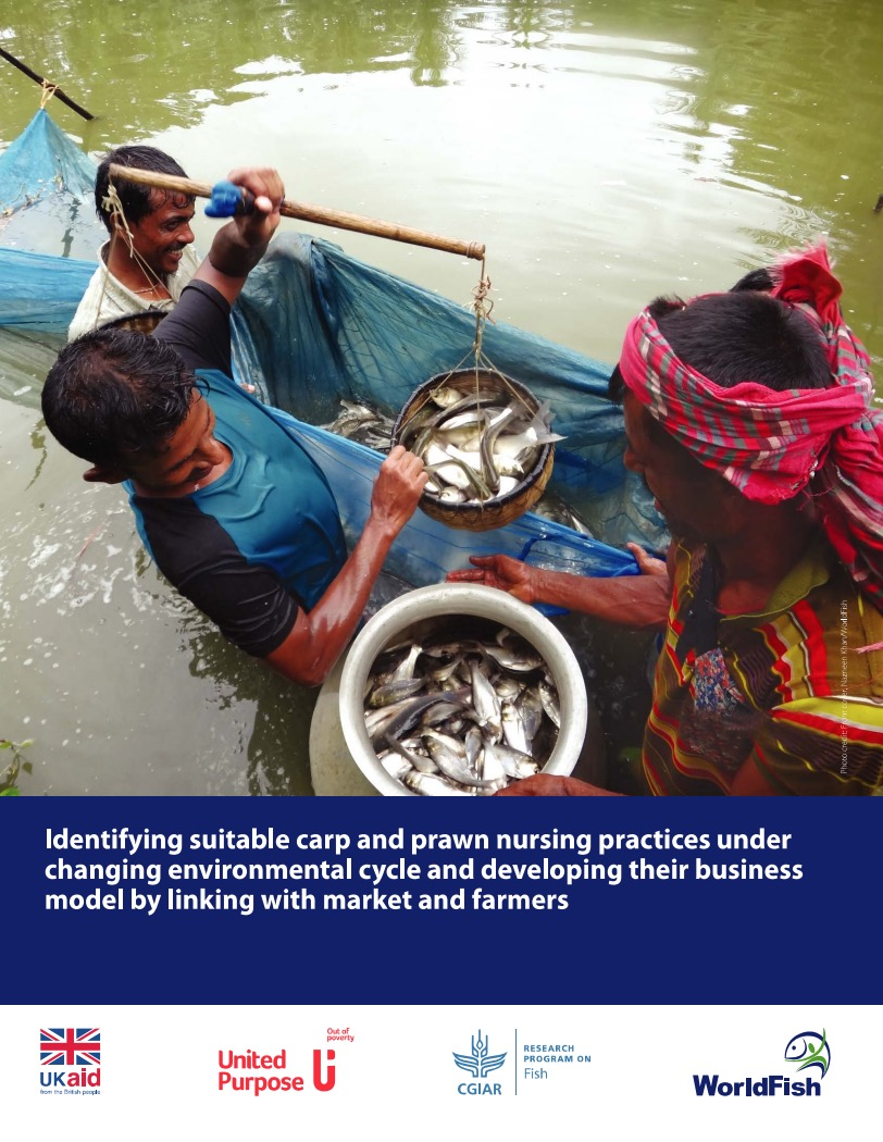 Identifying suitable carp and prawn nursing practices under