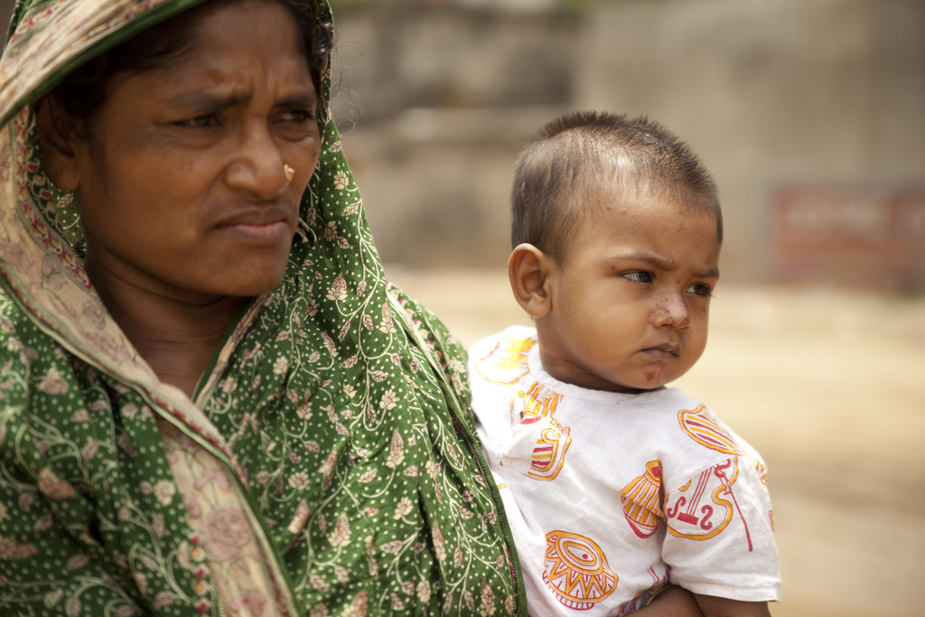Woman and child in Bangladesh