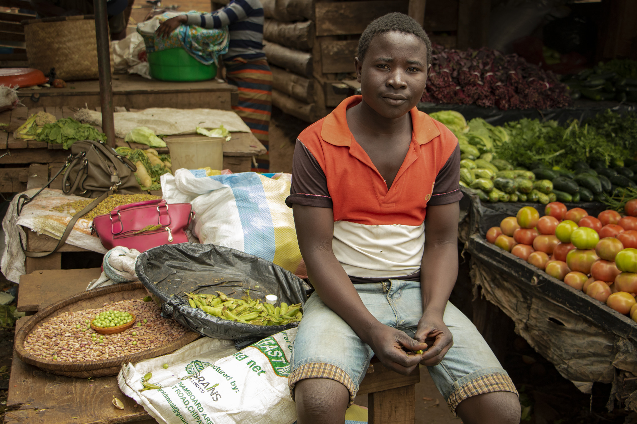 A vendor at a city market in Lilongwe, Malawi. The complexity of urbanizing food systems presents challenges for policy makers working to alleviate hunger and malnutrition, but can be broken down into manageable elements. Photo by Melissa Cooperman/IFPRI
