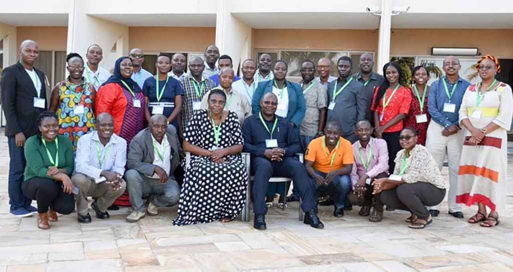 Participants at the meet pose for a group photo. Photo: ICRISAT