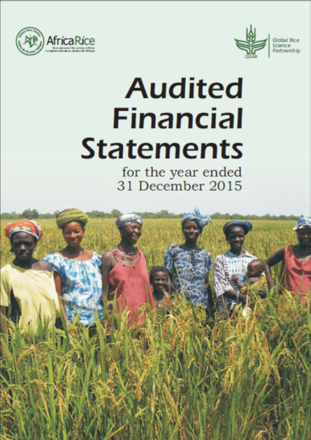 AfricaRice Audited Financial Statements 2015