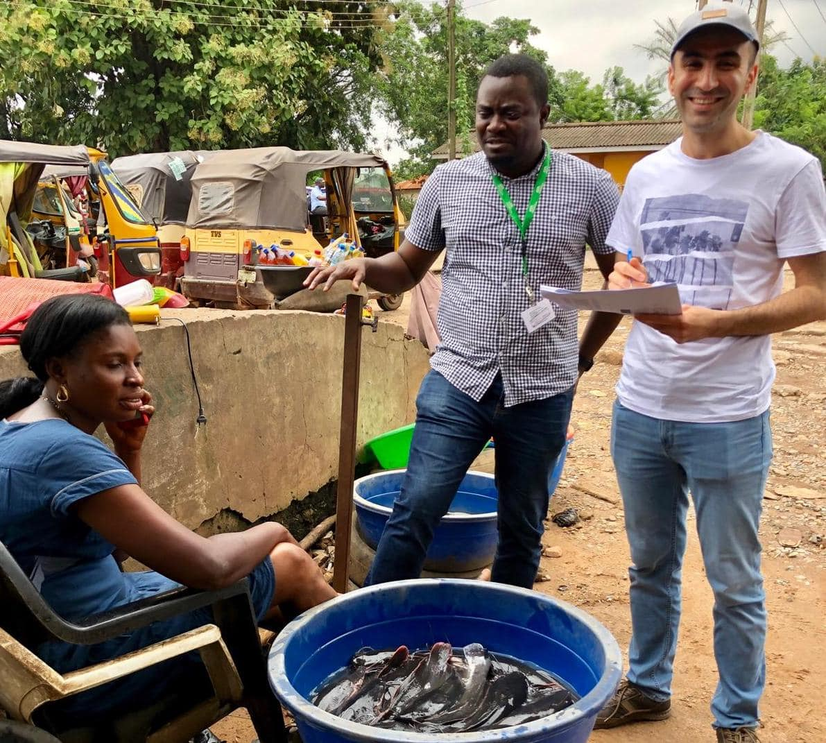 Field testing of the value chain assessment tool, Oyo State. Photo by Sunil Siriwardena.