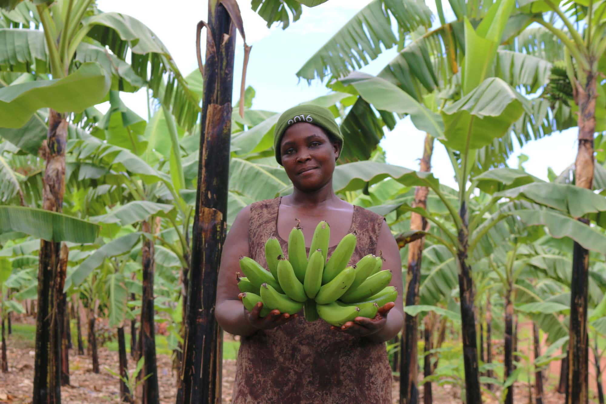 Female banana exporter