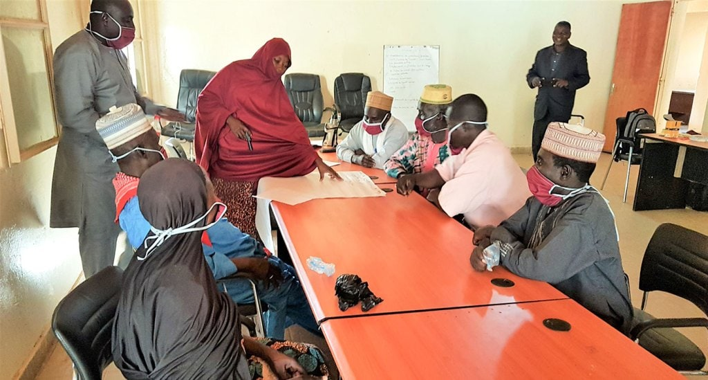 A training session for farmers in Niger; ICRISAT