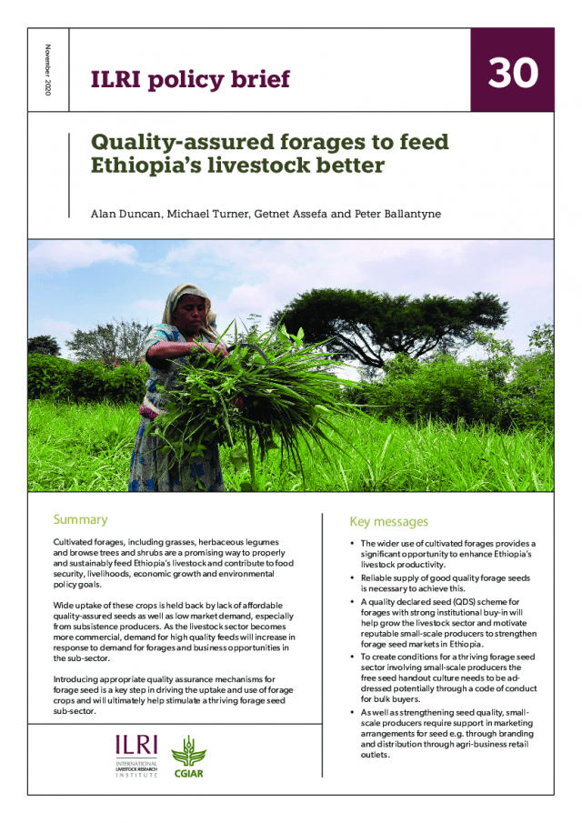 Cover of ILRI policy brief 30