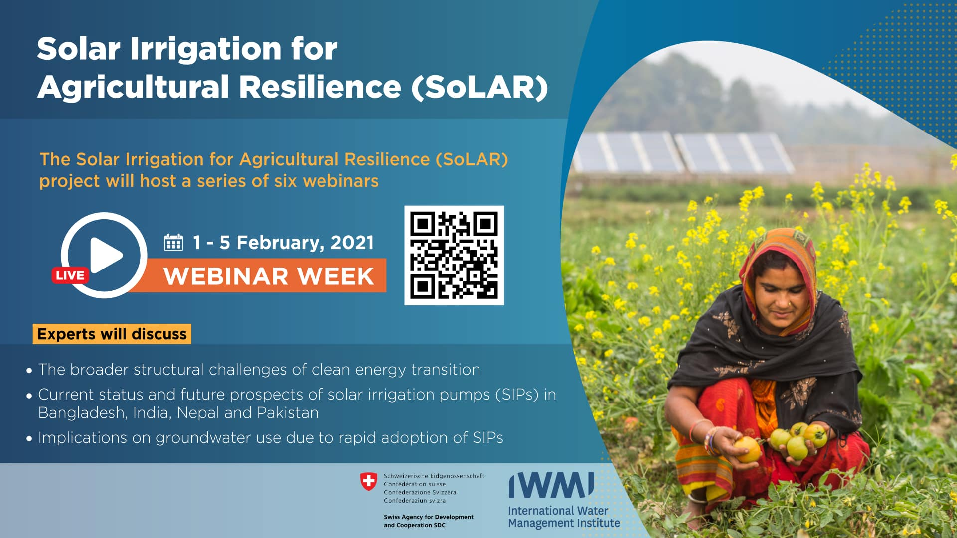 Solar Irrigation for Agricultural Resilience (SoLAR) - Webinar Week