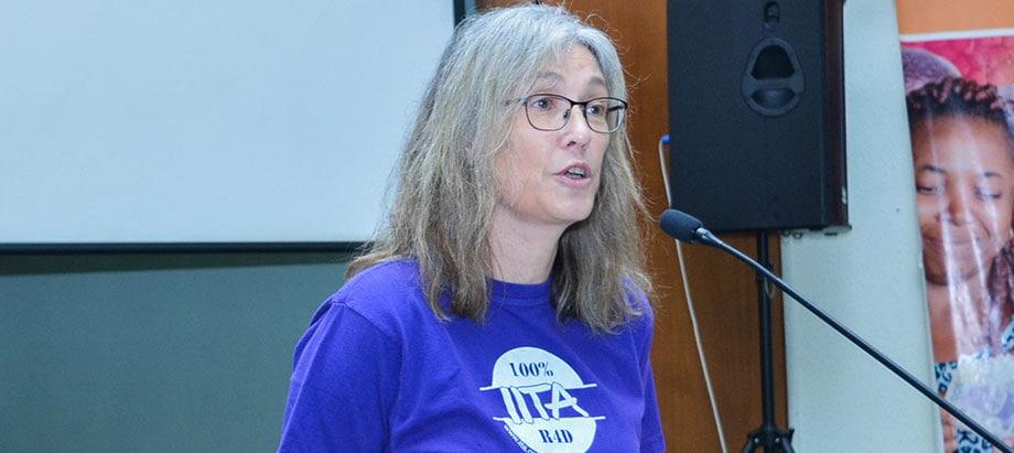 Hilde Koper, giving the opening remark