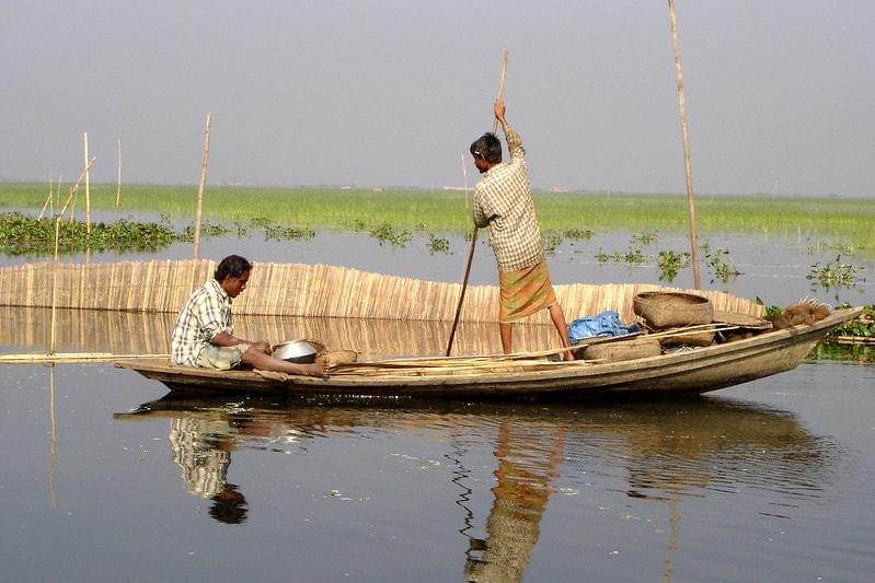 Fishing in the floodplains of Bangladesh. Photo by WorldFish.