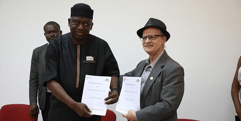 Representatives of BOWEN University and IITA signed MoU to seal partnership.