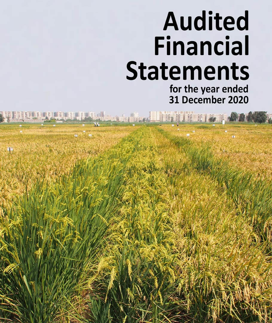 AfricaRice Audited Financial Statements for the year ended 31 December 2020