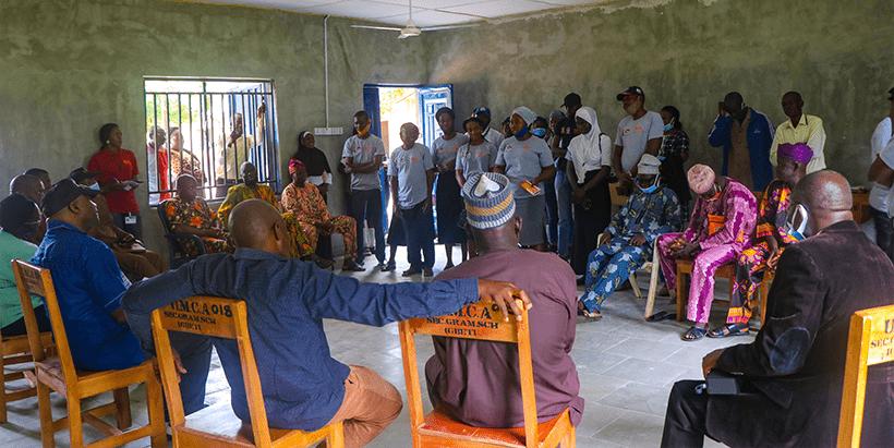 DG Sanginga meeting with the teachers and principal of UMCA, and the Igbeti community members.