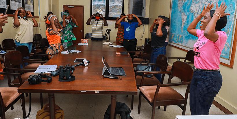 Nigerian Breweries Plc's Head of Sustainability and Regulatory Relations, Jennifer Uchendu, explaining 'Why Olokemeji'.