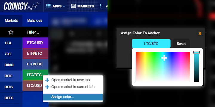 New Feature: Assign Colors To Markets