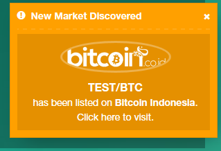 New Market Discovery Notifications