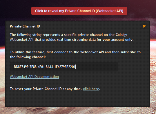 Private Channels Now Available through Websocket API