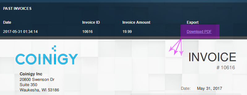 Update: View Credit Card Invoices in Account