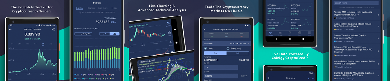 Coinigy Releases Mobile Charting and Trading Applications on iOS and Android