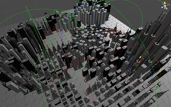 My first attempt at a procedural city generator