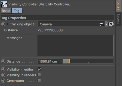 Visibility Controller properties