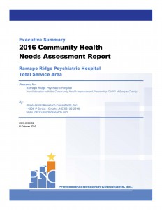 Bergen County CHNA Report 2016 - Executive Summary