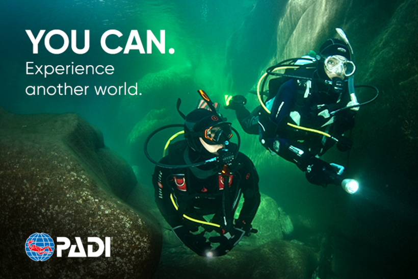Book your PADI Open Water diver course