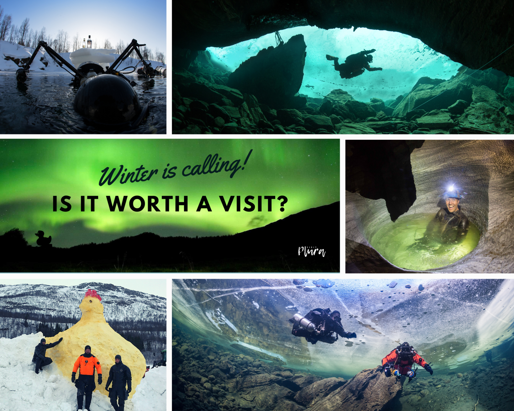 The arctic cave diving experience