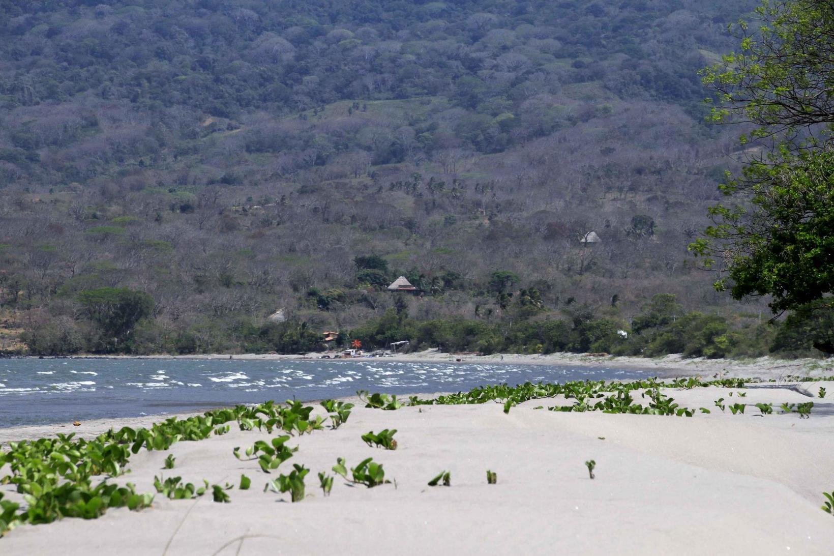 Xalli's beachfront in the dry season
