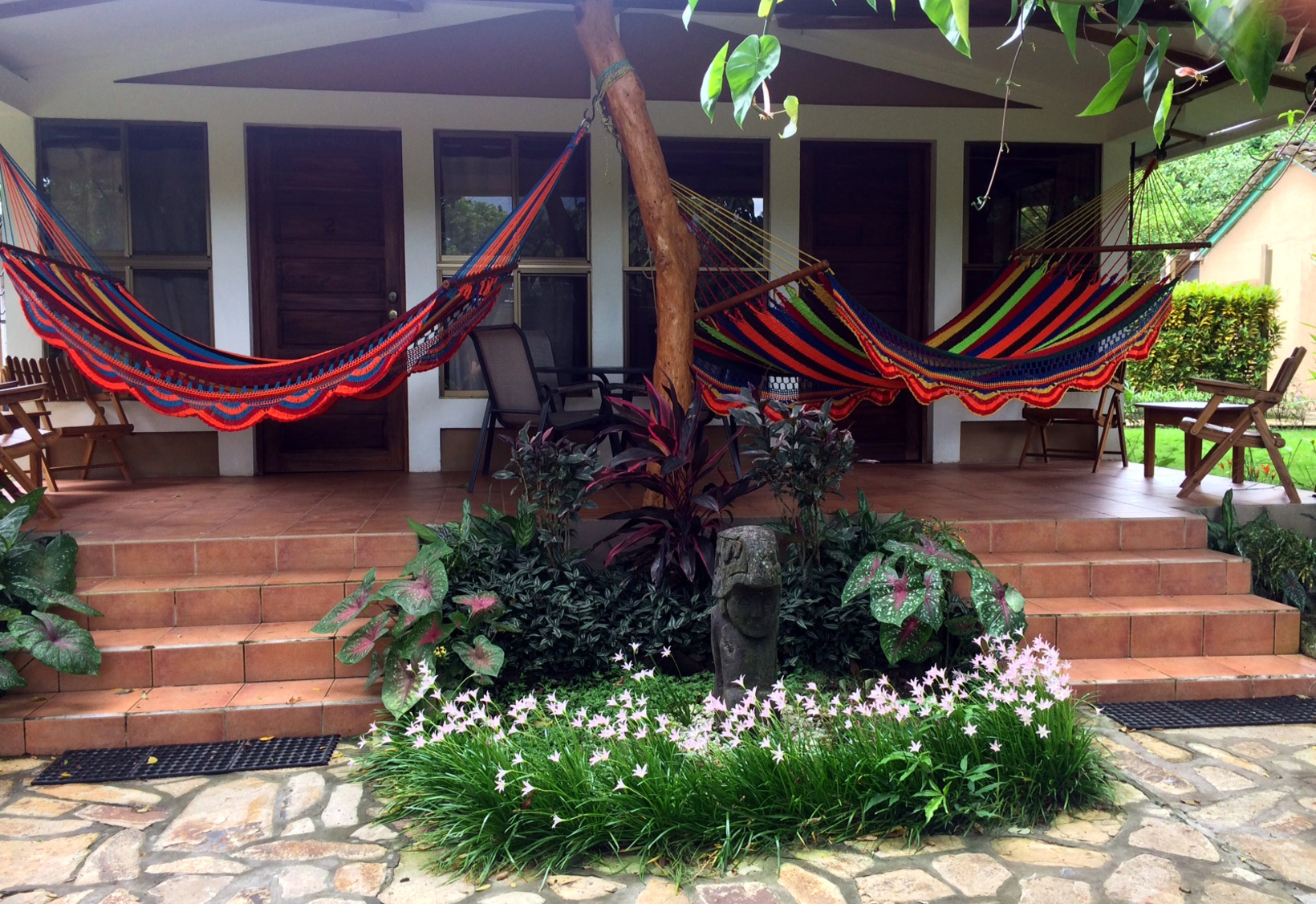 Porch of Deluxe room #1 & #2