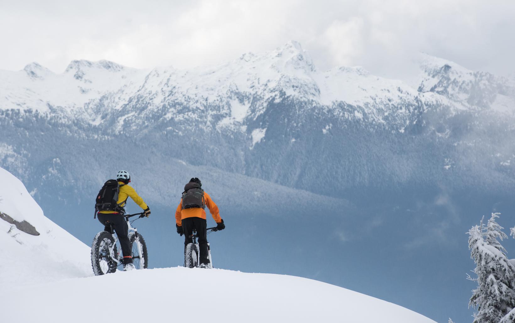 Fat Tire Snow Biking Tours in Squamish