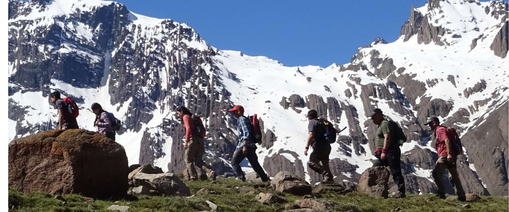 Hiking around Santiago in the Andes
