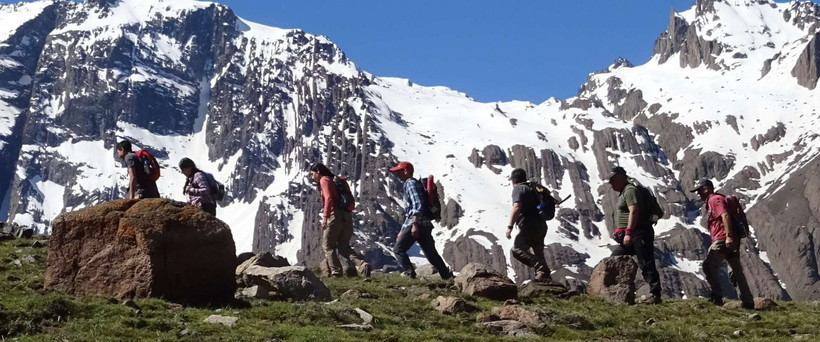Hiking in the Andes Range