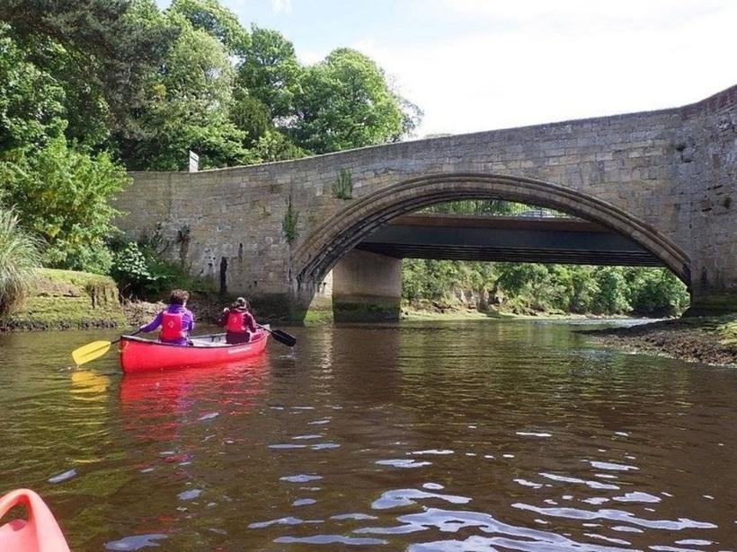 Canoeing at Amble