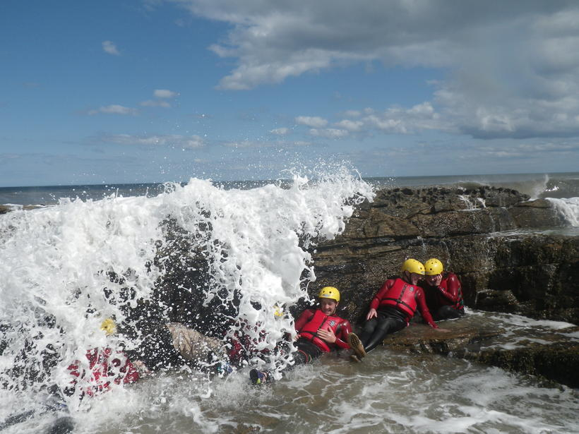 Coasteering at Howick