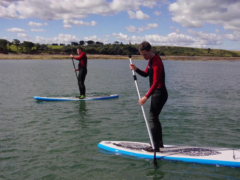 Paddle Boarding At Amble