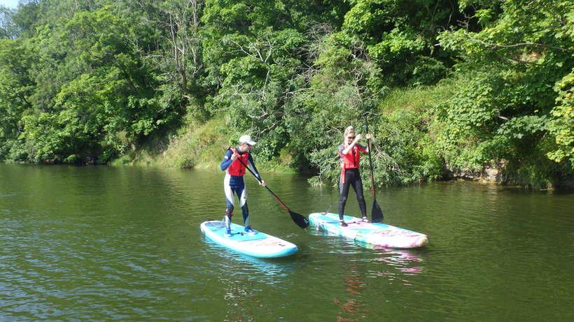 Paddle Boarding Bolam Lake near Morpeth