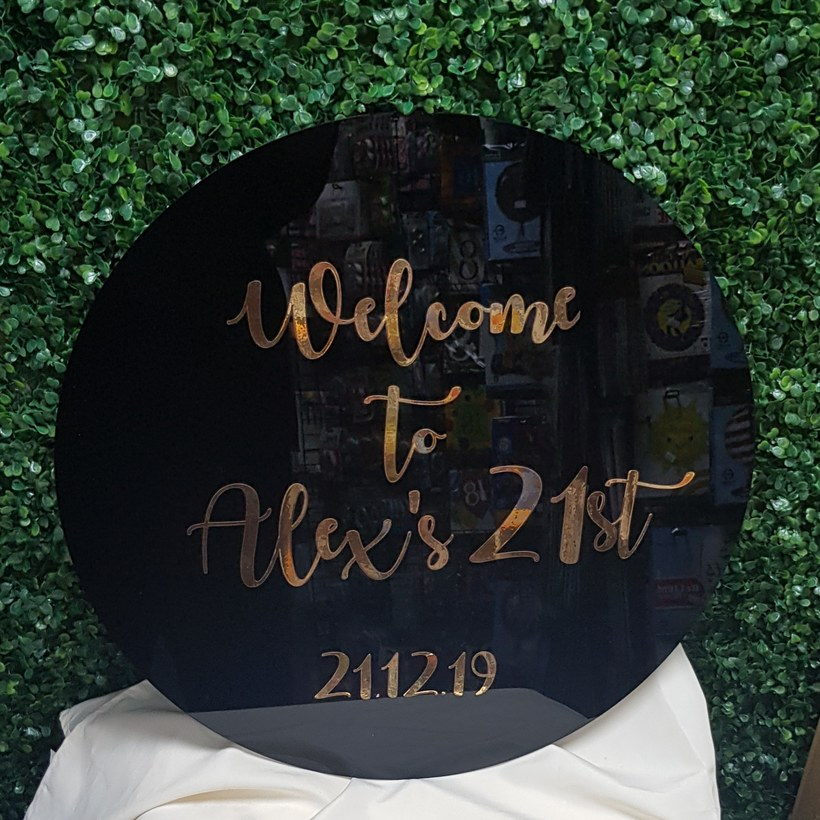 Acrylic Round Signs