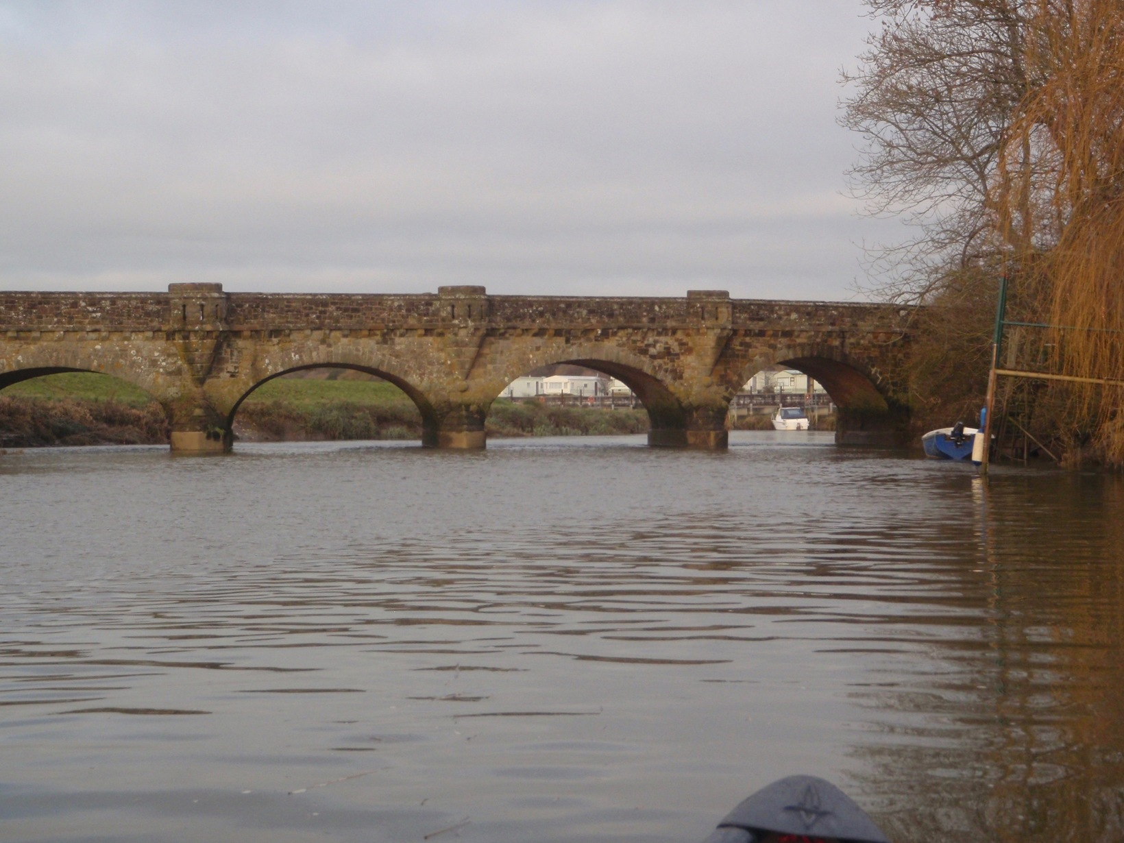 River Arun Kayak Tour. Kayaking past Amberley.