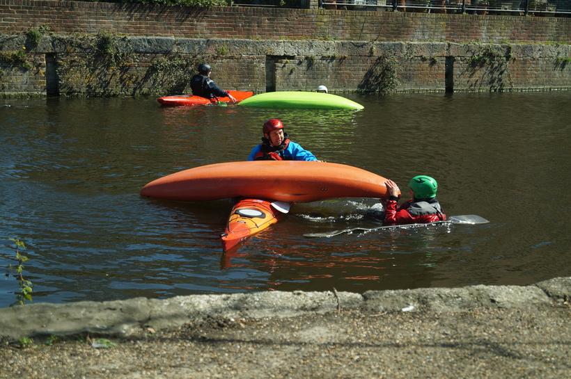 Kayak to kayak rescues