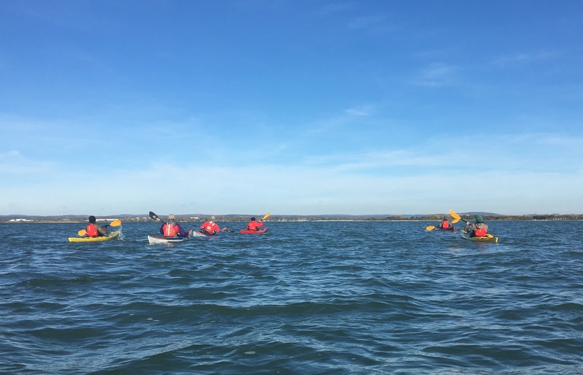 Sea Kayaking up Langstone Harbour