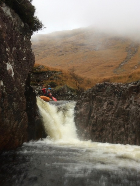 Shena on the River Etive