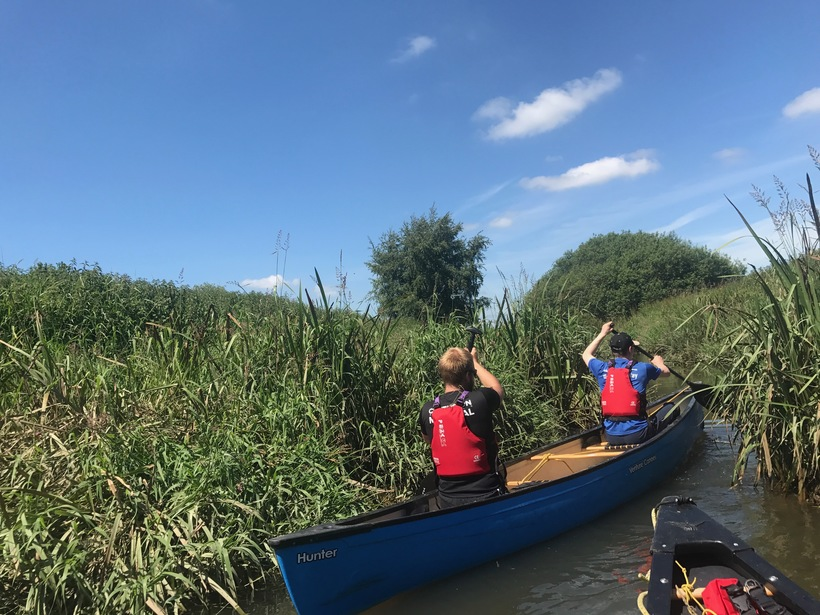 Tandem Canoeing at Pulborough