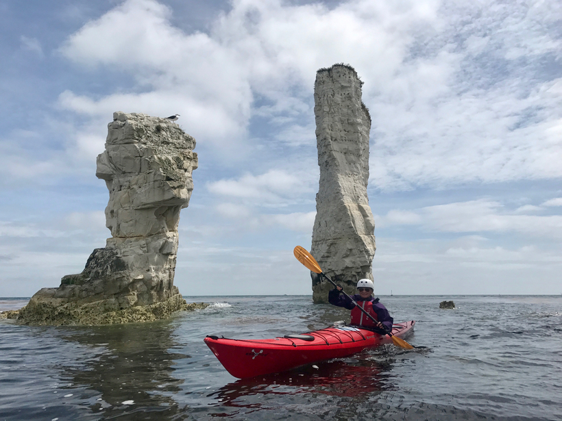 Sea Kayaking by Old Harry Rocks