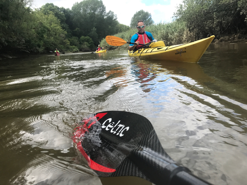 BC 3 Star Touring Kayak on the River Arun