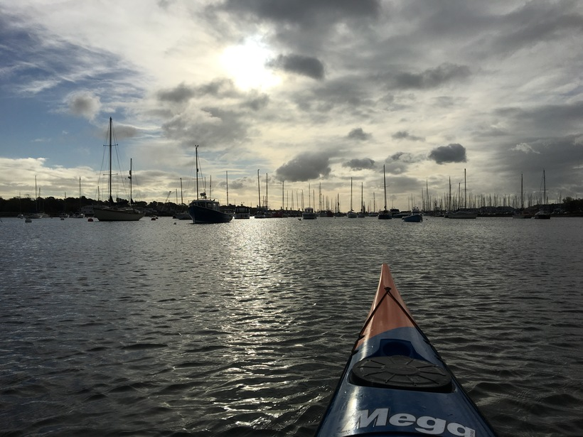 Kayaking on the Hamble