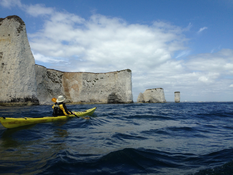 Sea Kayaking near Old Harry Rocks