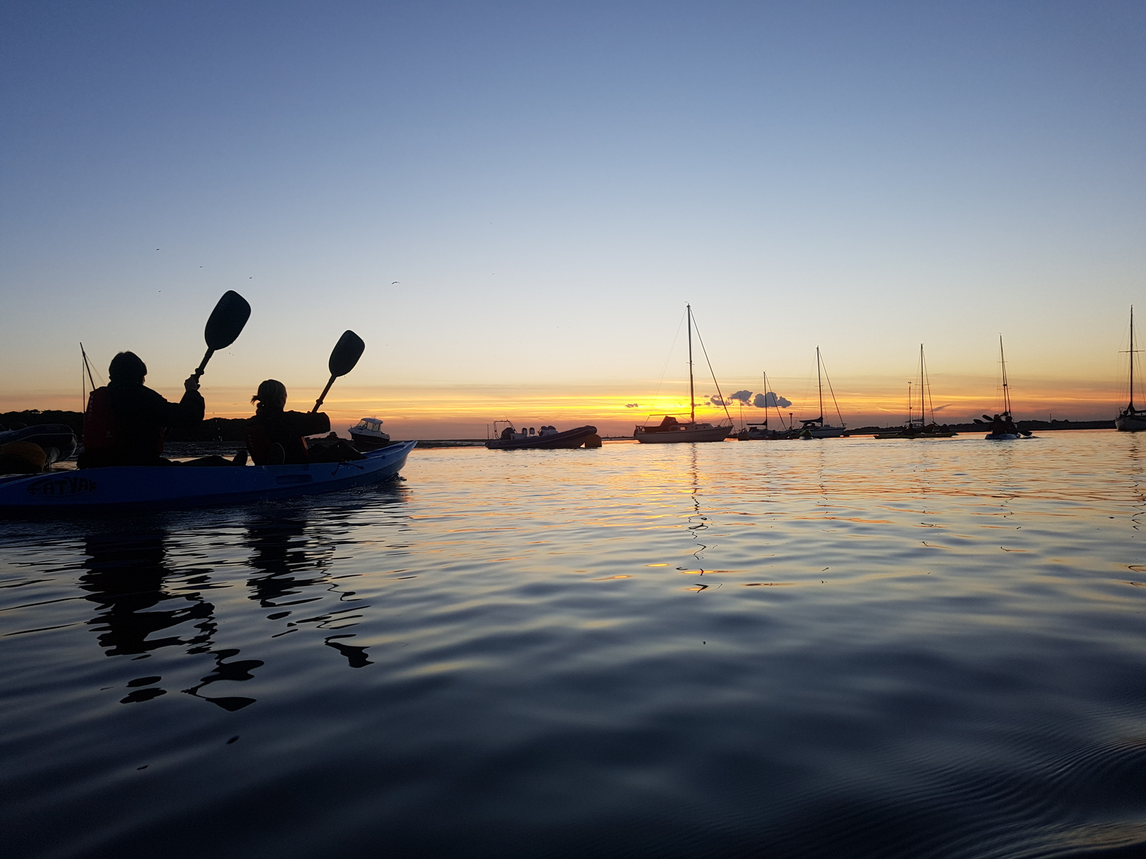 Sunset kayaking on Chichester Harbour
