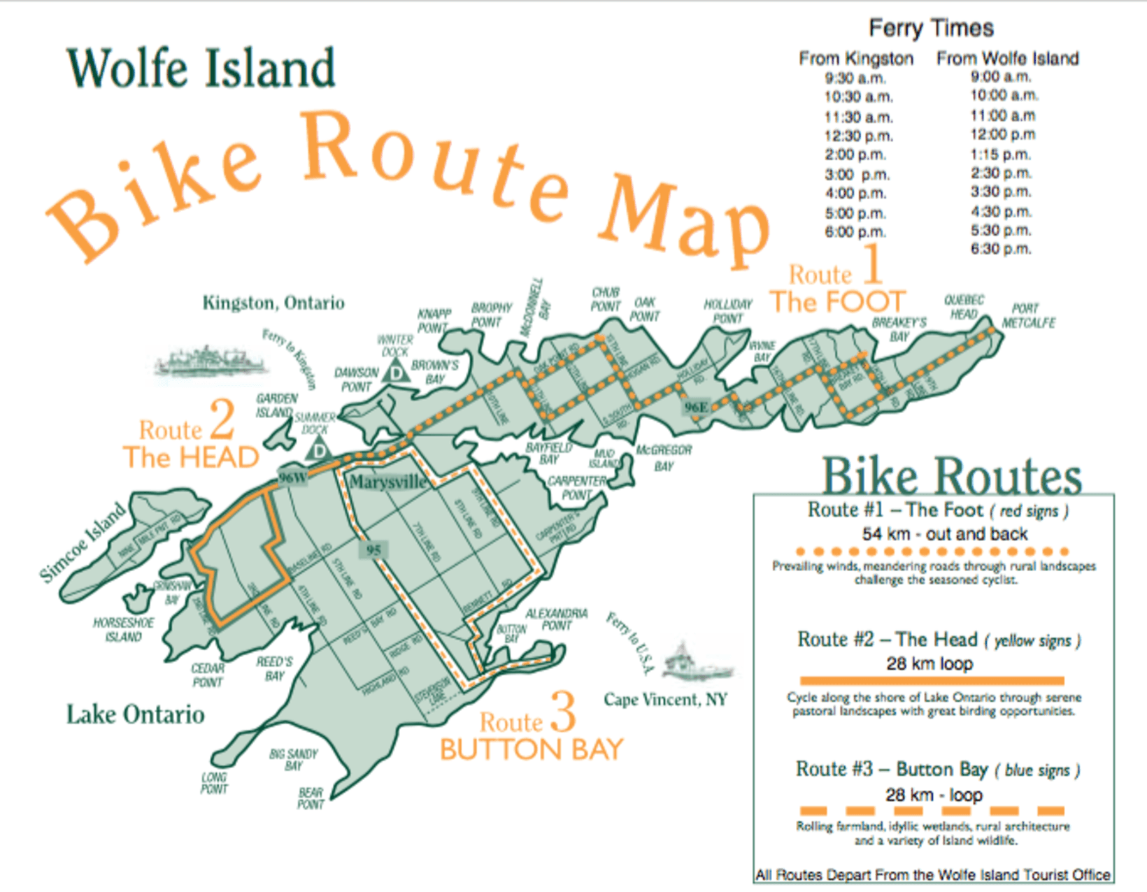 Cycling on Wolfe Island